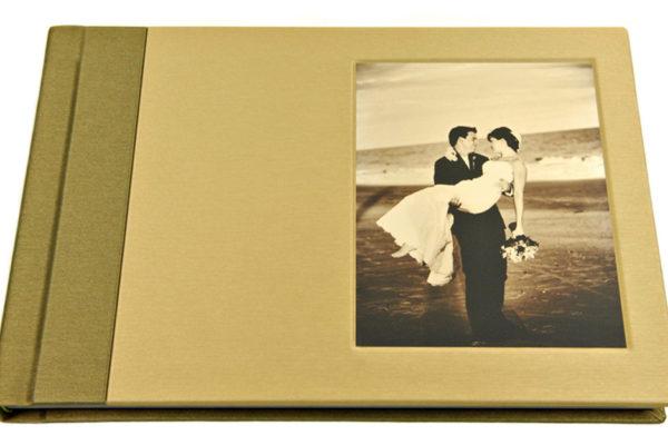 West Coast Malibu album with two-tone fabric cover