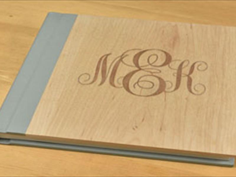 Wooden Monogram Inlay