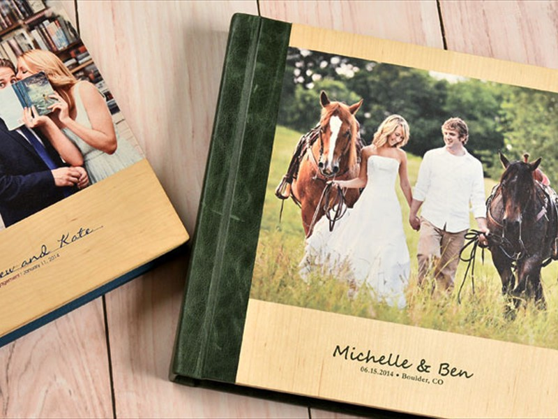Wooden Printd Photo Cover