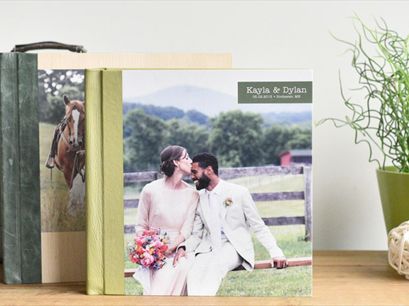 Wooden cover with photo